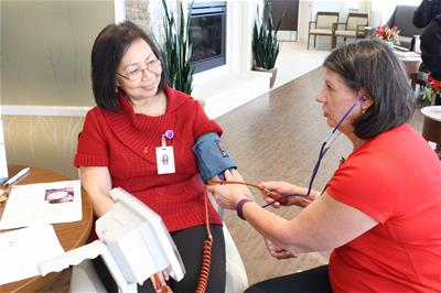 blood pressure at event